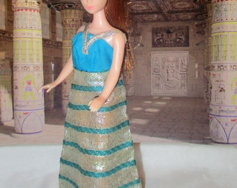1970's Topper Dawn Doll Collection GLORI wearing Silver Sparkler Gown!! RARE!