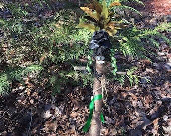 Green and Brown Voodoo Doll