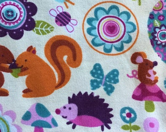 Made to Order Hedgehog, Owl, Squirrel, Fox, Mouse and Woods Unisex Adult Flannel Pajama Pants