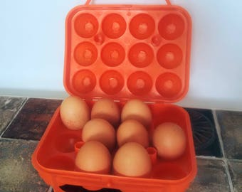 Vintage orange egg box / french vintage egg box
