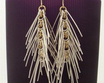 Silver & Gold Cascade Earrings