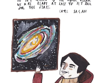 Carl Sagan Print