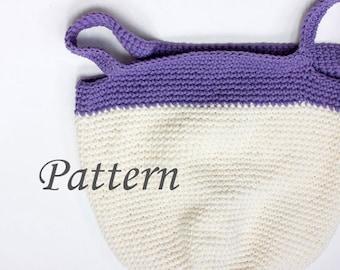 Market Bag Crochet Pattern,  Book Bag, Crocheted Tote PDF Pattern, Pattern Download, Market Tote Pattern