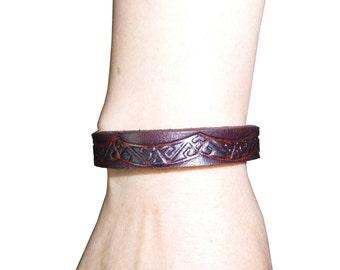 Bracelet for men, vintage Boliviano genuine leather Bracelet/ ethnic/ tribal/boho/bohemian