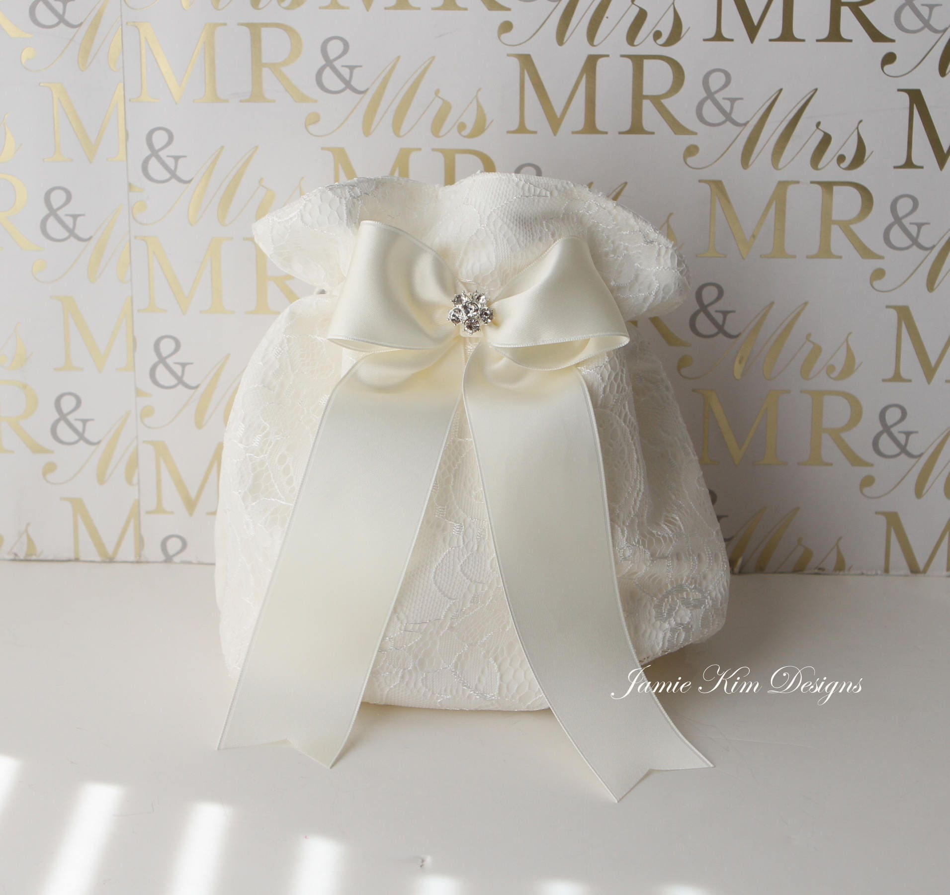 Wedding Laced Dollar Dance Bag Wedding Money Bag Bride Money