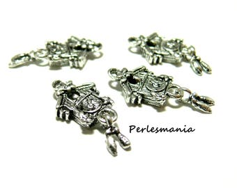 Primer 2 pendants A15527 cuckoo clock antique silver jewelry