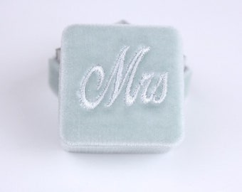 Ring Box MRS and MR Monogram For Box Tops