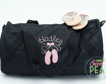 Dance Bag - Duffel Bag - Overnight Bag - Ballet bag - Sports Bag - Sleepover Bag - Weekend Bag - Personalized Duffel Bag -Monogram Bag