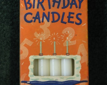 Vintage Birthday Candles by Will & Baumer