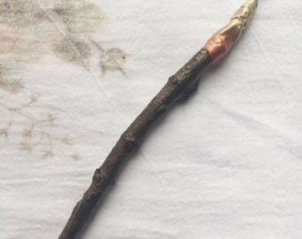 Branch Paintbrush, Collection 2, made of collected branches, gift for artist, painter
