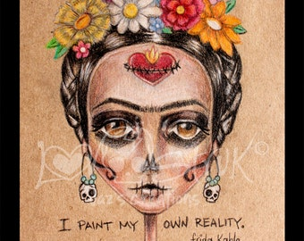 My own reality Frida Art Print