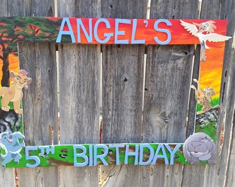 Birthday, Baby Shower, Wedding,Lion Guard Themed Party Photo Prop Frame or any theme