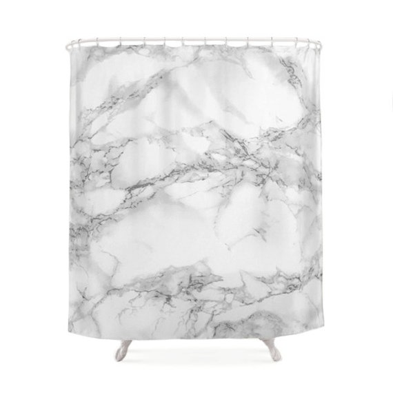 Marble Shower Curtain Elegant Curtains Texture Photo White