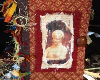 Handmade Fabric and paper Journal (Venus)