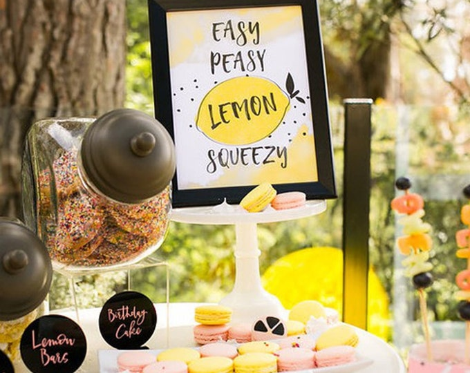 Printable  Easy Peasy Lemon Squeezy Sign- Printable DIY
