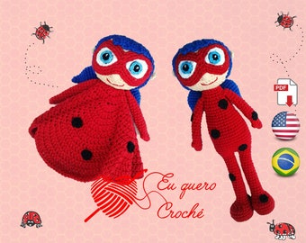 Ladybug - Doll and lovey amigurumi pattern PDF ONLY crochet