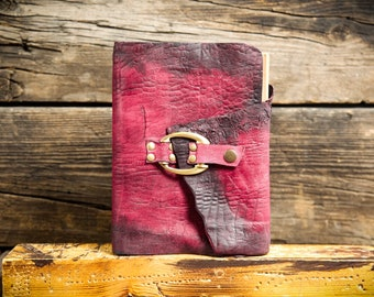 Pink notebook, Handmade jotter, Vintage leather notepad, Personalized leather journal, Sketchbook, Handmade diary, Refillable - Awesome gift