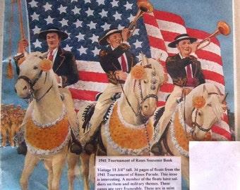Vintage Tournament of Roses  Pasadina California 1941 Parade Souvenir Book