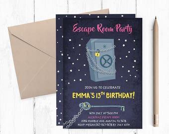 Escape Room Invitation, Escape Room Invitations, Escape Room Party Invites, Escape Room Party Invite, Escape Room Party Invitations, Escape,