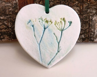 Hanging decoration ceramic heart essential oil diffuser plants clay hearts gift for her birthday present small gifts present for Mom