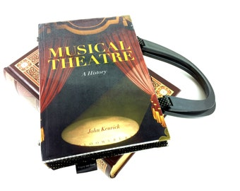 """Musical Theatre Handbag, Performing Arts Purse, """"Look at me I'm Sandra Dee! A Whole New World, The Lonely Goatherd, Tomorrow, I Got Life!"""""""