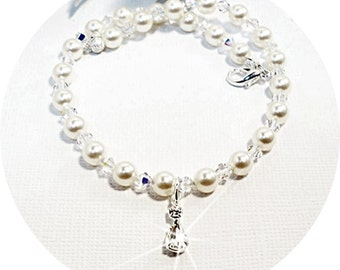 Bridal Anklet, Bridal Accessories, Wedding Ankle Bracelet, Wedding Anklet, Pearl Anklet, Crystal Anklet, Dressy Anklet,  Ankle Bracelet