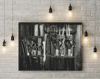 Salon Decor Wall Art Haircare Masterpiece Framed Canvas Art for Beauty Salon Hair Salon Barber Shop Decorating Ideas