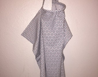 Nursing Cover / Apron- Black & White