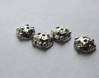 Bead Caps Bumpy Rustic Sterling Silver TWO 002/BC34
