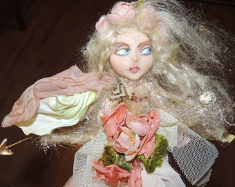 One of a Kind FAIRY with Vintage and Antique Materials