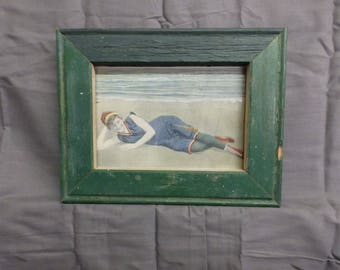 SHABBY ARCHITECTURAL Forest Green Chic Salvaged Recycled Wood Photo Picture Frame 5x7 127-17P