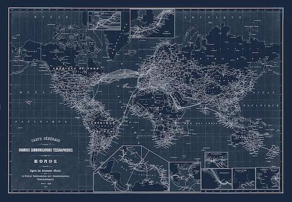 World map map of the world world blueprint map world malvernweather Choice Image