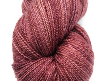 Hand-dyed Lace Yarn, Lace Yarn, Hand-dyed Yarn, Lace Weight Yarn, Superwash Merino, Silk, Lace, Indie Dyed Yarn, Rosewood