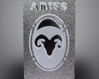 Aries Zodiac box card with envelope template