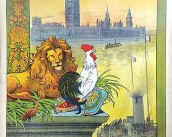 Vintage French Railways Paris To London Tourism Poster A3/A2/A1 Print