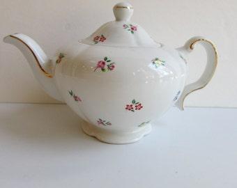 Vintage Teapot Ellgreave England Shabby Chic Floral
