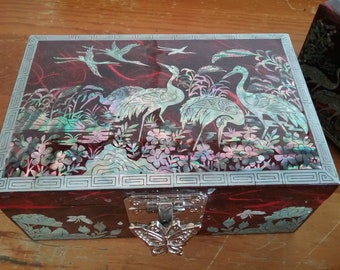 Mother-of-pearl inlaid jewelry boxes