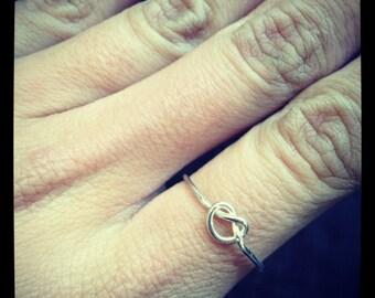 KNOT handmade sterling silver ring