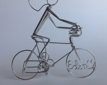 Personalized Bike Rider Sculpture or Cake Topper
