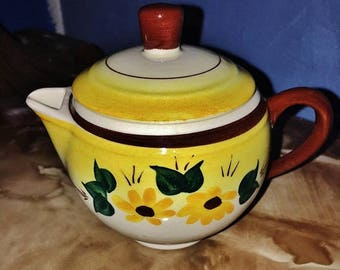 ON SALE - Vintage Vernon Kilns Brown Eyed Susan Creamer with Lid Made in California, USA