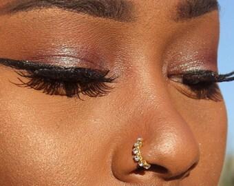 Diamond Nose Ring-Nose Ring-Nose Stud-Nose Stud-Nose Jewelry-Diamond Nose Stud-Nose Piercing-Gold Nose Ring-Piercing-Nose-Body Jewelry