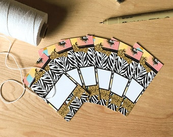 Gift wrapping tags, blank tags, Birthday tags, gift tags, gift wrapping accessory, favor gift tags, hang tags, paper tag, decorative tags