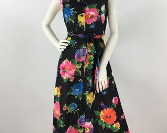 1960s polyester dress 60s house wife dress