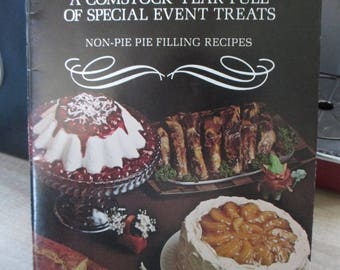 Viintage Recipe folder - Advertising Comstock pie fillings ! - Estate find from cookbook collection