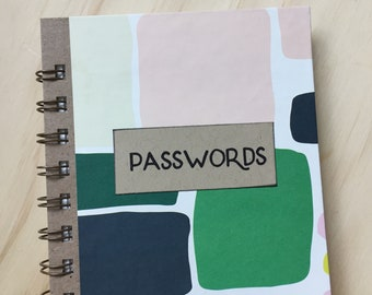 Password Journal, Password Book, Web Address Keeper, Geometric Pattern
