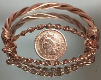 Vintage Copper  Indian coin bracelet Hand Made