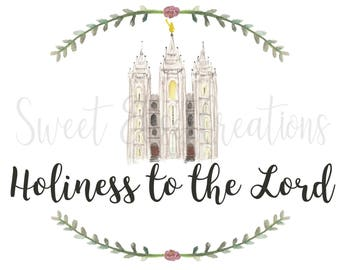 Holiness to the Lord Digital Print, LDS