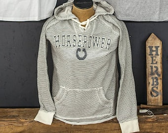 Horsepower Striped Sweatshirt