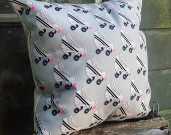 Retro Girl Rollerskate Pillow