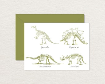 Printable Note Card / Dinosaur 4 Bar Printable Card / Dinosaur Party / Dinosaur Stationery / Dinosaur Thank You